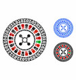 digital casino roulette composition icon circle vector image vector image