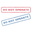 do not operate textile stamps vector image vector image