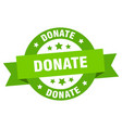 donate ribbon donate round green sign donate vector image vector image
