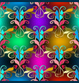elegance vintage floral colorful seamless pattern vector image