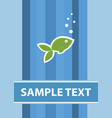 fish card template vector image vector image