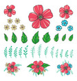 floral elements for create your compositions vector image vector image