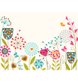 Floral spring design vector image vector image