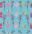 folk blue pink red yellow maroon fuchsia plants vector image vector image