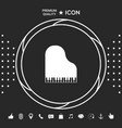 grand piano icon graphic elements for your vector image
