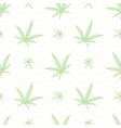 Green hand drawn cannabis leaves in all