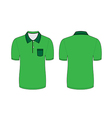 green polo t shirt vector image