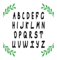 Hand draw alphabet latin letters isolated on vector image