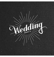 handwritten Wedding retro label vector image