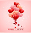 happy valentines day background red pink and vector image vector image