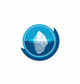 iceberg above and under water conceptual logo vector image vector image