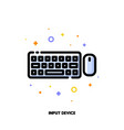 icon of computer keyboard top view and mouse vector image vector image