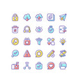 interface rgb color icons set vector image