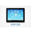 Internet Of Things Tablet vector image vector image