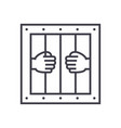 jail line icon sign on vector image