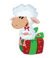 lamb on the box vector image vector image