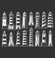 lighthouse and beacon icons nautical symbols vector image