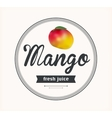 mango juice Detailed label vector image