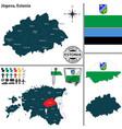 map of jogeva estonia vector image vector image