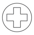 medical point thin line icon medicine and vector image