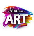modern art paper poster with colorful brush vector image