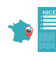 nice map infographic vector image vector image