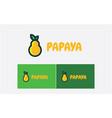 papaya logo design template vector image