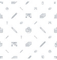 pictograph icons pattern seamless white background vector image vector image