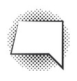 pop art speech bubble halftone style icon linear vector image vector image