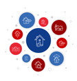 real estate infographic 10 steps bubble design vector image