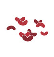 red kidney bean icon set vector image vector image