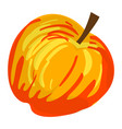 red yellow apple icon cartoon style vector image