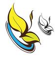 Retro Floral Logo vector image