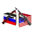 russia usa and syria break vector image vector image