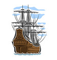 sailing ship vector image vector image