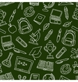 School seamless pattern with hand drawn icons on vector image vector image