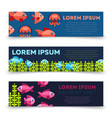 sealife banners collection - ocean banners with vector image