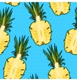 Seamless pineapple and polka dot vector image vector image