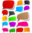 Set of color speech designs vector image vector image