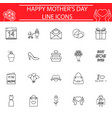 set of mothers day icons vector image vector image
