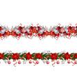 set of n seamless christmas borders vector image vector image