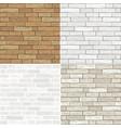 set textures of brick vector image