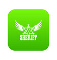 sheriff icon green vector image vector image