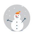 snowman wearing hat poster vector image vector image
