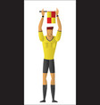 soccer referee signaled a substitution vector image vector image