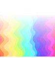 square rainbow background with waves vector image vector image