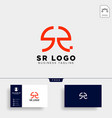 sr letter initial business logo template icon vector image