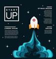 startup infographic poster template vector image vector image