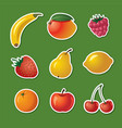 stickers of different fruits vector image vector image