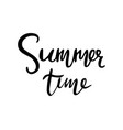 summer time hand lettering typographic element vector image